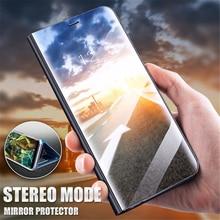 Mirror Flip Phone Case For Xiaomi Redmi 6 6A Note 4x 6 6Pro