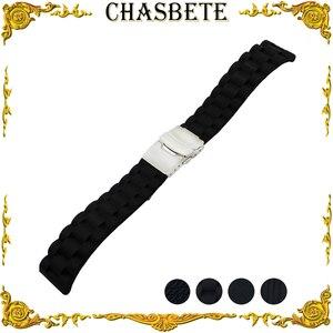 Ремешок для часов Panerai, силиконовый ремешок для часов, 22 мм, 24 мм, черный + инструмент + шпилька