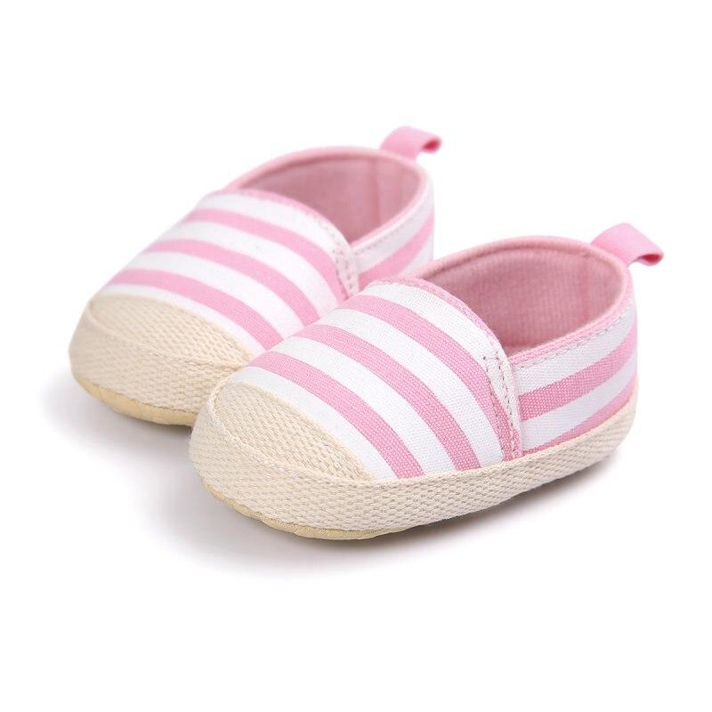 Zapatos Suaves Del Niño Del Bebé Muchacho de la Muchacha de Rayas Encantadores Z