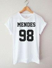 S-XXXL casual t shirt women men MENDES 98 camisetas ropa mujer tee shirt femme poleras de mujer tshirt tees tops