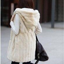 2016 New Lady Faux Fur Vest Winter Warm Fur Coat Outwear Fashion Warm Women Jacket Long Fur Waistcoat Tops DX343