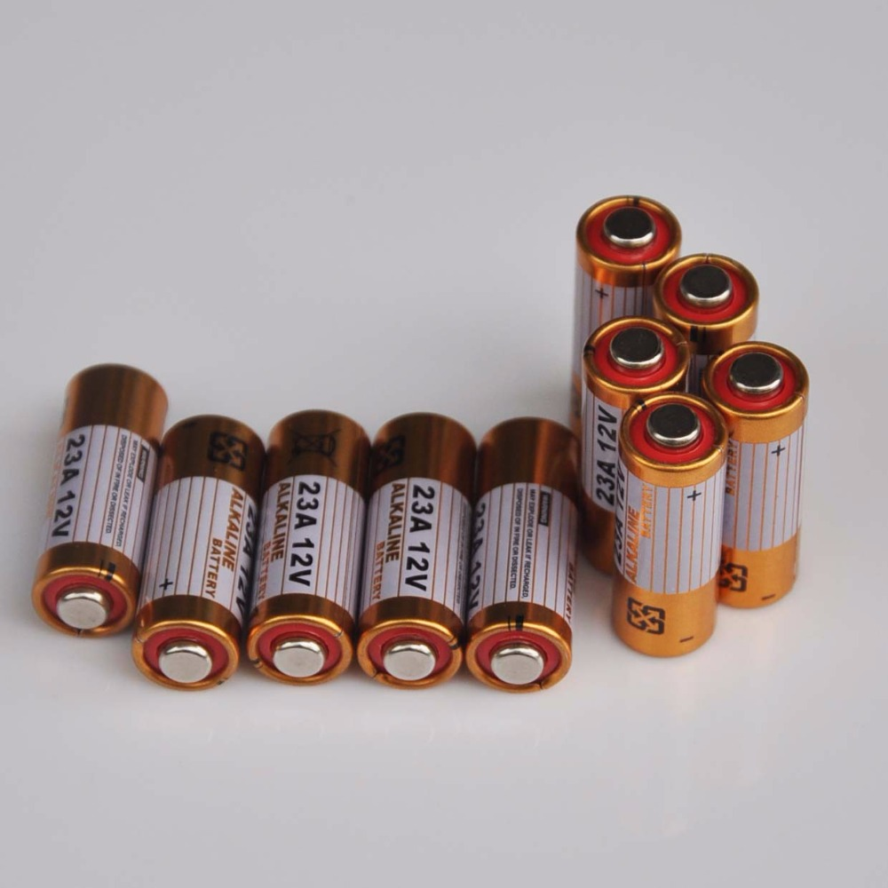 10PCS 23A <font><b>12V</b></font> dry primary alkaline battery 23AE 21/23 <font><b>A23</b></font> 23GA MN21 for doorbell,car alarm,walkman,car remote control etc image
