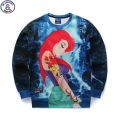 Mr.1991 youth fashion 3D cartoon anime printed hoodies girls teens Spring Autumn thin sweatshirts big kids sweatshirts W10