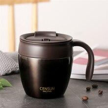 320 мл нержавеющая сталь кофе кружки термос изоляции бутылка для воды чашки Посуда напитков с ручкой крышкой дорожная кружка для чая офиса