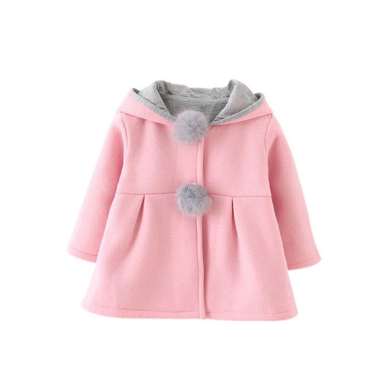 2017 invierno primavera bebé niñas manga larga abrigo chaqueta conejo oreja sudadera Casual prendas de abrigo