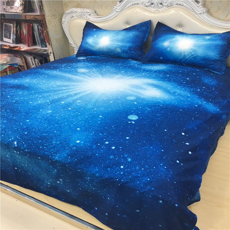 XK 013 Royal Blue Galaxy Bed Set, Kids Single Bedding, Adult Double Duvet  Cover Set In Bedding Sets From Home U0026 Garden On Aliexpress.com | Alibaba  Group