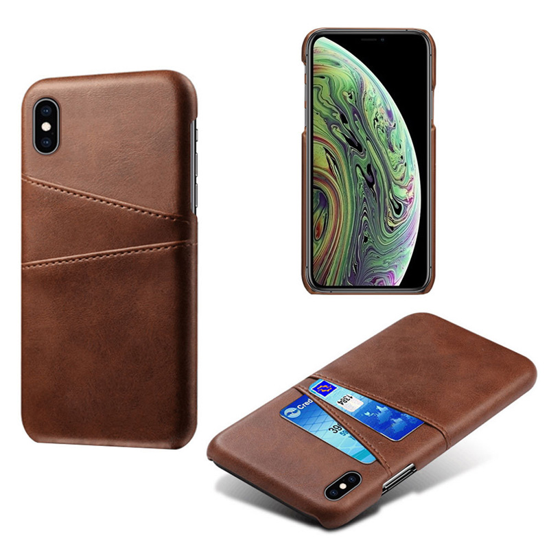 Роскошный держатель для карт чехол для iphone 5, 5S, 6, 6 S, 7, 8 Plus, 5se, кожаный чехол-кошелек для iphone X, XR, XS, Max, 11 Pro, Max, чехол для телефона - Цвет: Brown