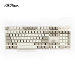 Enjoypbt keycaps ISO KEYS  blank pbt keycaps 117 keys cherry profile for cherry mx mechanical keyboard dark black cmyw