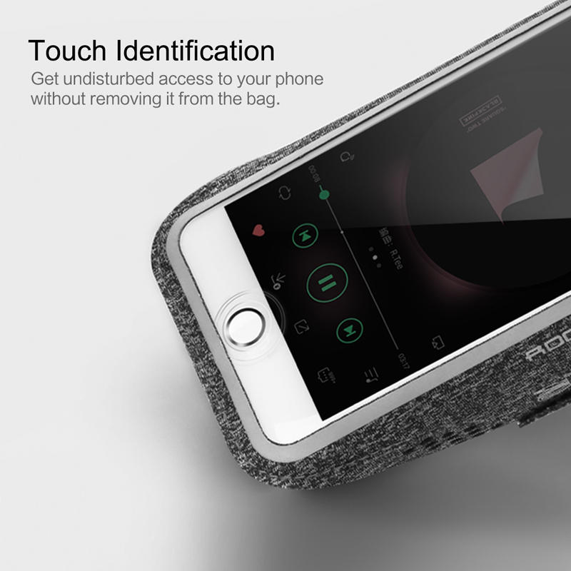 Armbands Mobile Phone Accessories Hot Sale Original Rock Sports Armband Touch Screen With Reflective Strip Born Arm Band For Running For Iphone 6 7 Plus For Samsung S8 S7