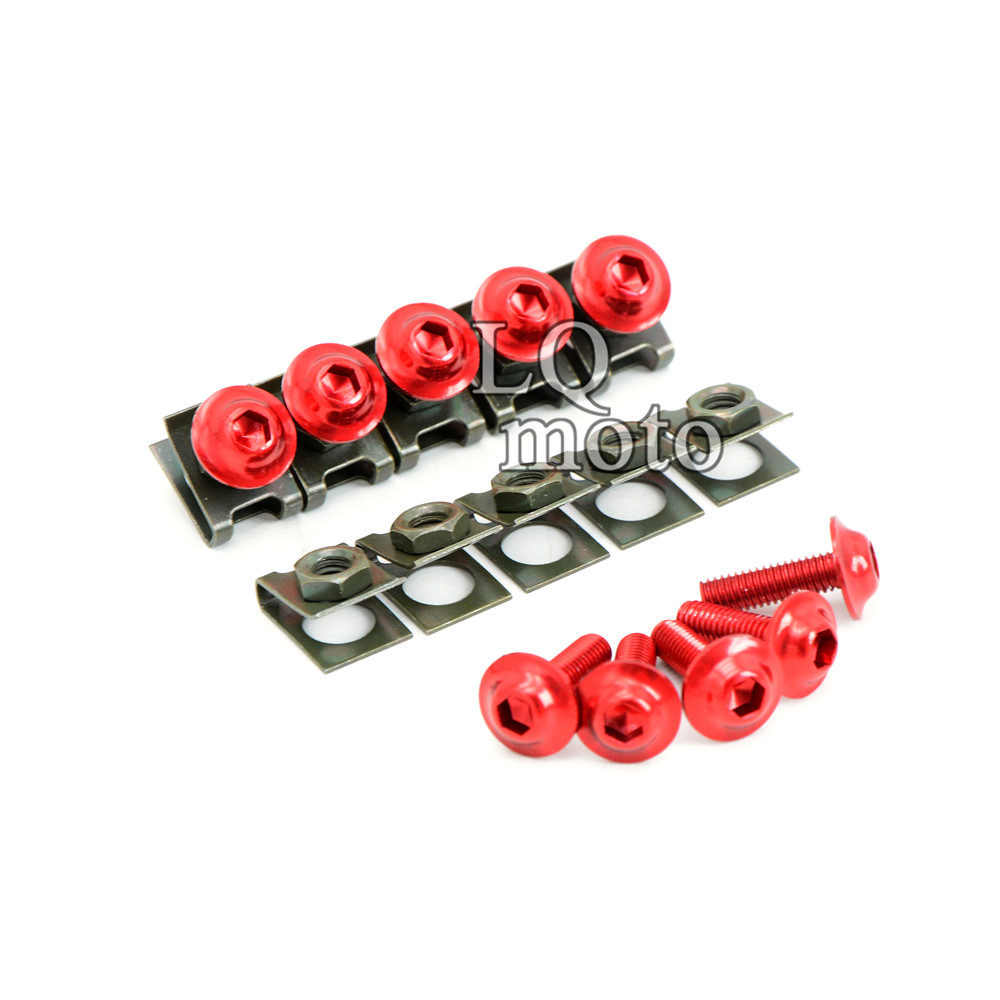 6mm CNC motorcycle Scooter body Spire fairing Spring Clips Nuts bolts screws For ktm KAWASAKI ZX6R 1998 1999 2000 2001 2002 2003