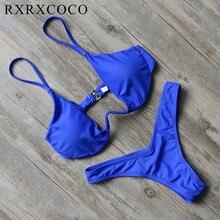 New Design Solid Swimwear Women Bikini Set Sexy Bandage Bathing Suit Push Up Brazilian Bikini 2018 Swimsuits