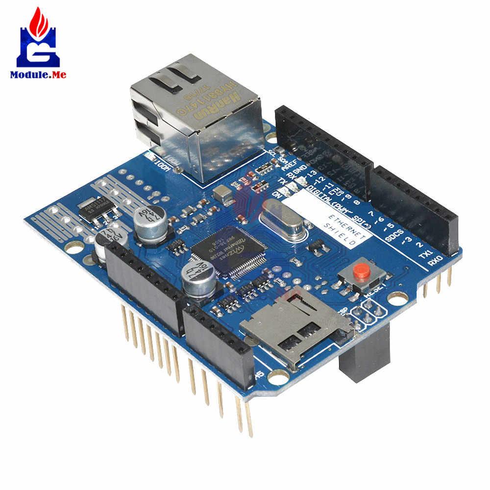 Module Ethernet Lan W5100 Network Shield Micro SD Board Card For Arduino Uno R3