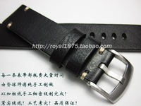 Black Men's 18mm 19mm 20mm 21mm 22mm Strap Handmade leather Watchband For Seiko for Tissot Omega Belt Watch band