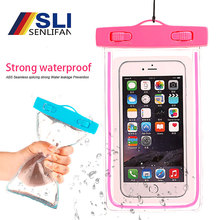 Get more info on the Waterproof Mobile Phone Bag Strong waterproof Luminous With Whistle Bag / Swimming Rafting Water Sports Essential 5 Colors