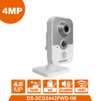 WIFI IP Camera DS 2CD2442FWD IW Wireless Cube webcam 4.0MP videcam surveillance cam alarm system CCTV Webcam