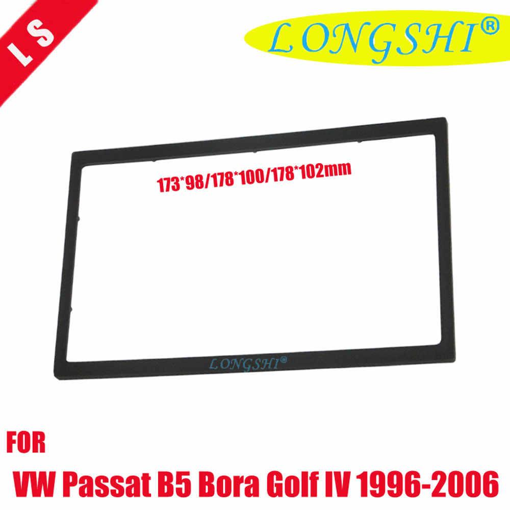 Podwójne 2 Din Audio konsola do VW Passat B5 Bora Golf IV Radio CD GPS DVD Stereo CD tablica rozdzielcza do montażu wykończenia zestaw