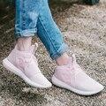 2017 Nuevas mujeres de la Llegada Tejido Elástico Zapatos de Zapatos Casuales Zapatos de Lona de La Moda Unisex del Amante para la Primavera Tamaño 35 ~ 43