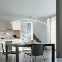 Подвесные светильники кухня столовая Бар кафетерий нордический дизайн hanglamp светодио дный ар деко простой белый акрил подвесной светильник