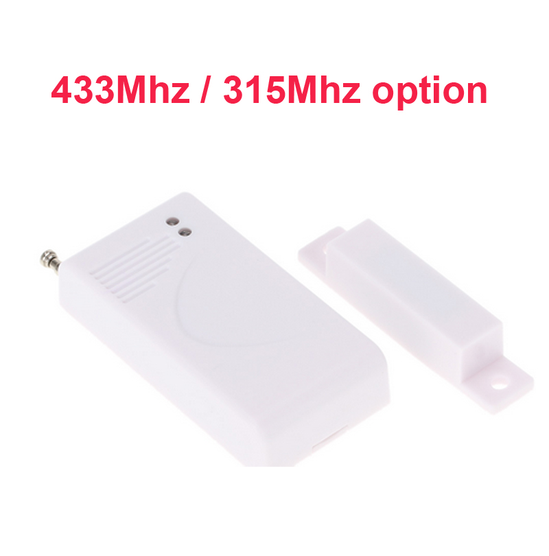 433mhz Wireless door magnetic sensor alarm Alarm Security Accessory window entry sensor magnetic sensor alarm 315mhz w/ battery smartyiba 433mhz wireless door window sensor door open detection alarm door magnetic sensor door gap sensor for alarm system