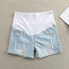 Большой размер одежды для беременных лето материнство брюки мода для беременных шорты живота брюки основной беременным джинсы беременные женщины