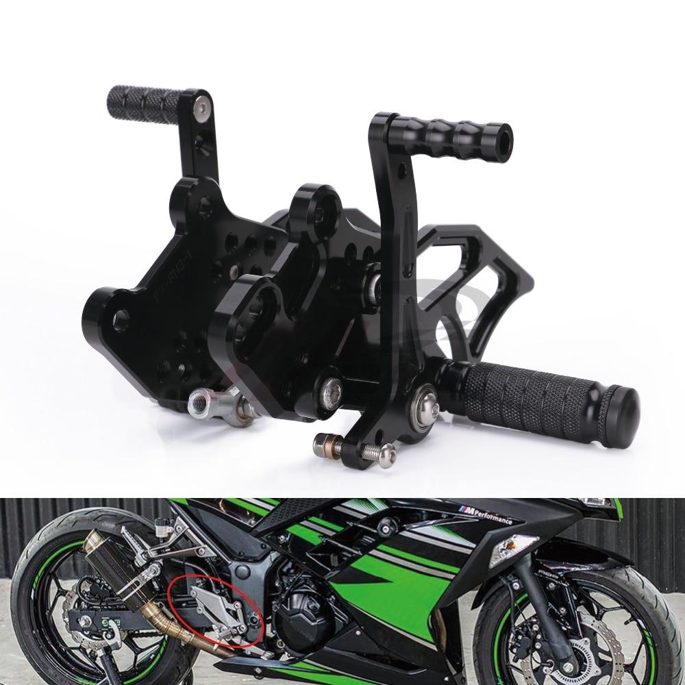 For Kawasaki Ninja 300 2013-2016 2014 CNC Rear Set Footpeg Rearset Shift Brake