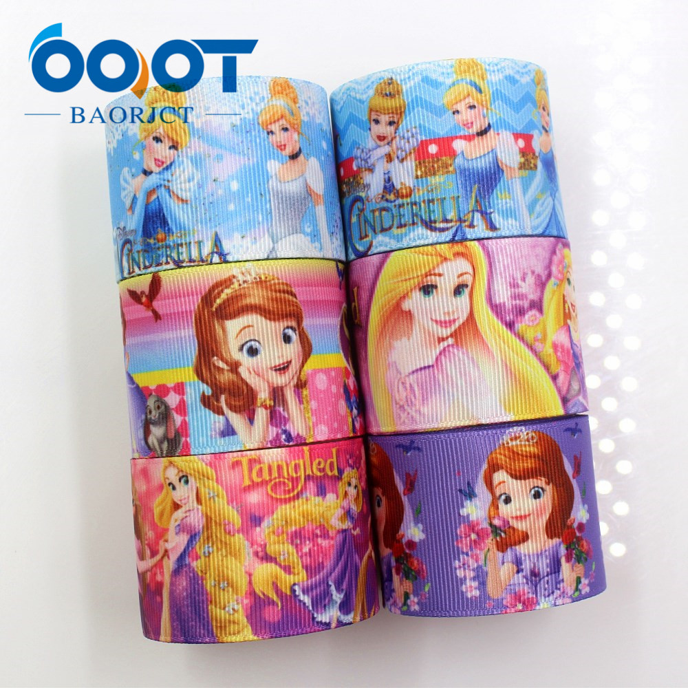 OOOT BAORJCT I-181117-243,38mm 10yards Cartoon Ribbons Thermal Transfer Printed Grosgrain,DIY Gift Wrapping Materials