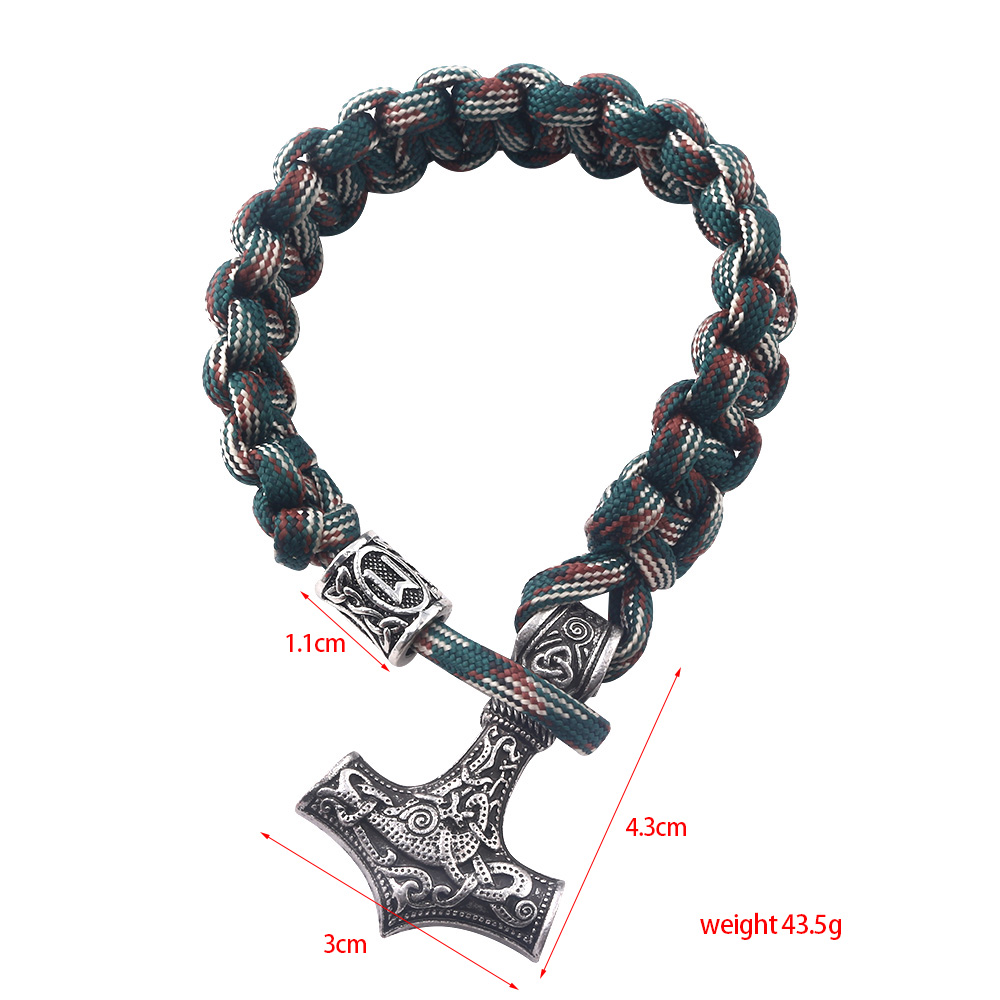 rongji jewely fashion Viking Ax Wrap Bangles Bracelets amulet thor 2 methods of use Cosplay Jewelry Men Women in Bangles from Jewelry Accessories