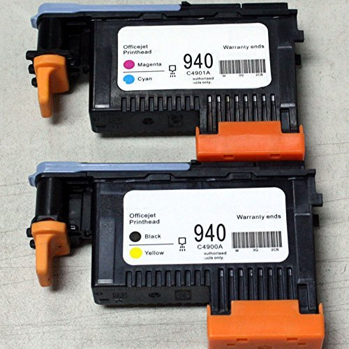 2x Compatible for HP940 Print Head C4900A C4901A For HP Officejet Pro 8000 8500 8500A 8500A Plus 8500A Premium 940 Printhead 940 magenta cyan black yellow printhead c4901a c4902a for hp officejet pro 8500 8000