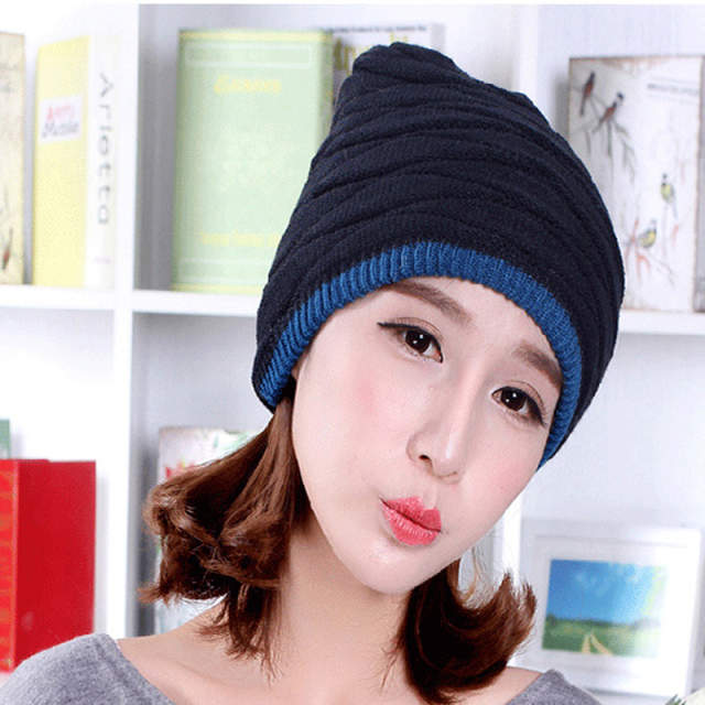 45fff07867a 2018 Arrival Beanies Knitted Hat Men s Winter Hats For Women Men Caps  Gorros Warm Moto Fur