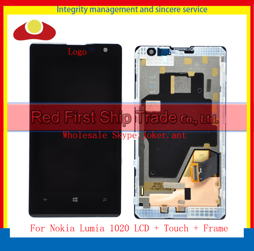 10Pcs/lot DHL EMS High Quality For Nokia Lumia 1020 Full Lcd Display Touch Screen Digitizer Sensor Assembly Complete With Frame 50pcs dhl high quality 5 0 full lcd