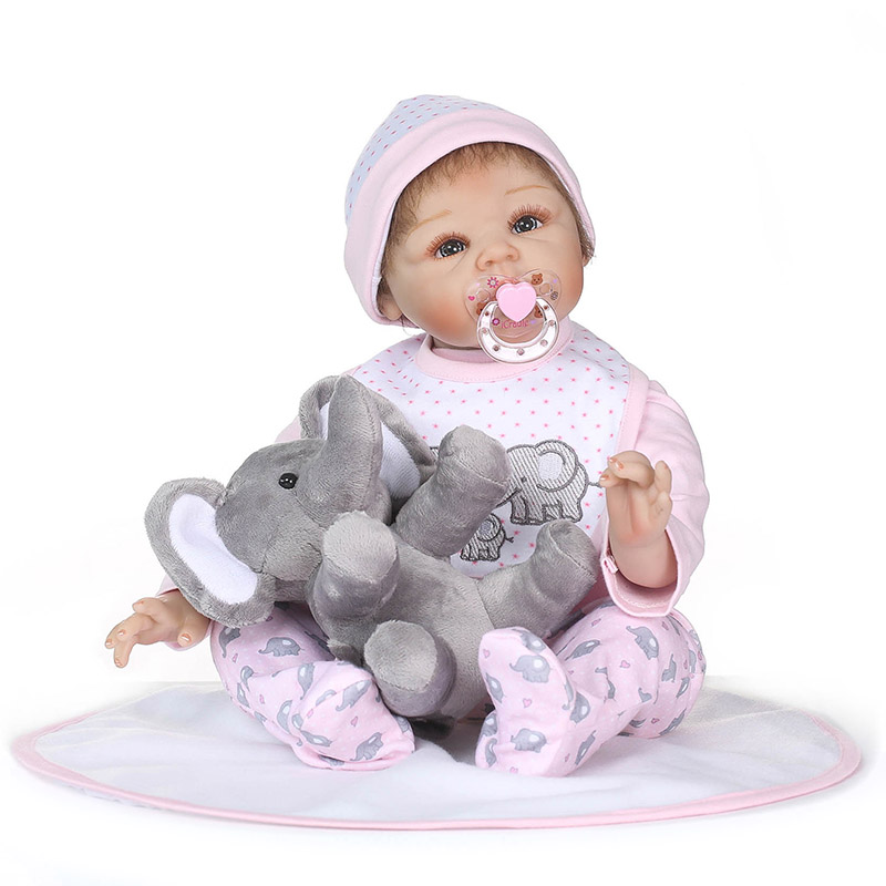 56CM Soft Vinyl Reborn Doll Lifelike Jointed Newborn Baby Dolls for Kids Playmate Christmas Gift M09 55cm vinyl jointed reborn doll lifelike kids baby dolls for infant playmate christmas gift m09