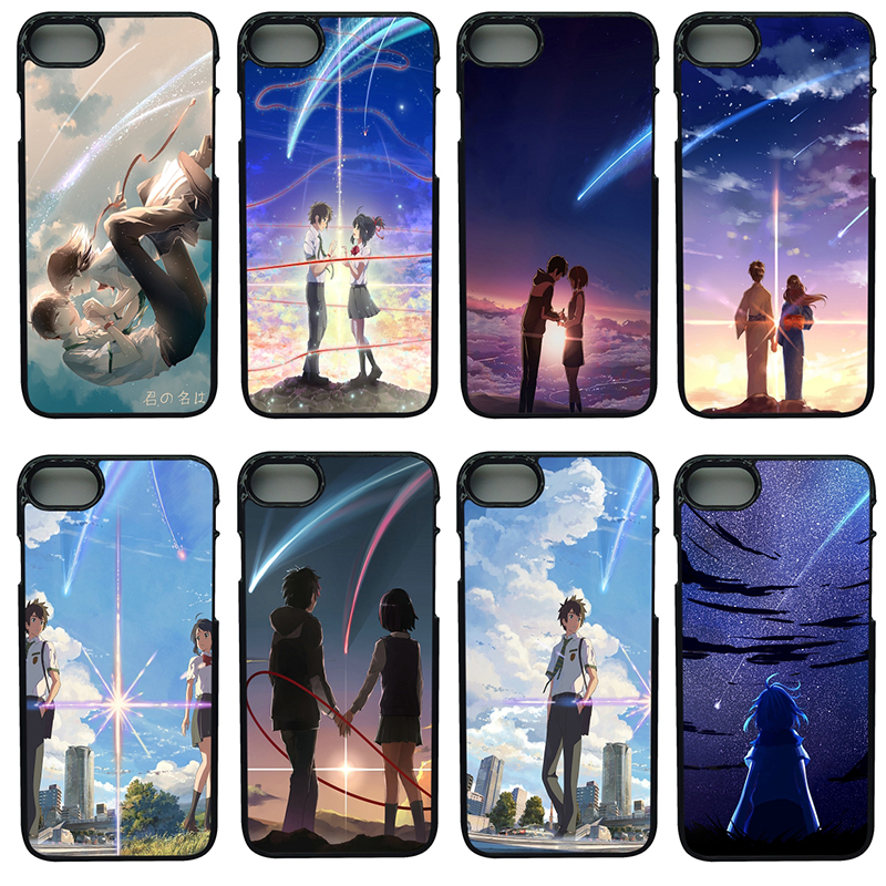 Fashion Your Name Anime Cell Phone Cases Hard Plastic Cover Protect for iphone 8 7 6 6S PLUS X 5S 5C 5 SE iPod Touch 4 5 6 Case