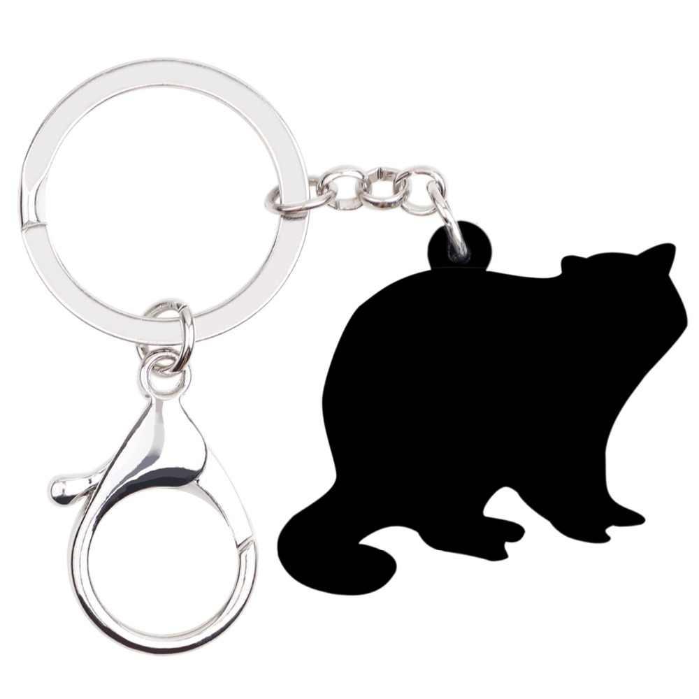 Bonsny акриловые Новинка енота Procyon Lotor брелки цепочки брелок ювелирные изделия для животных для женщин девушек дамская сумочка брелоки
