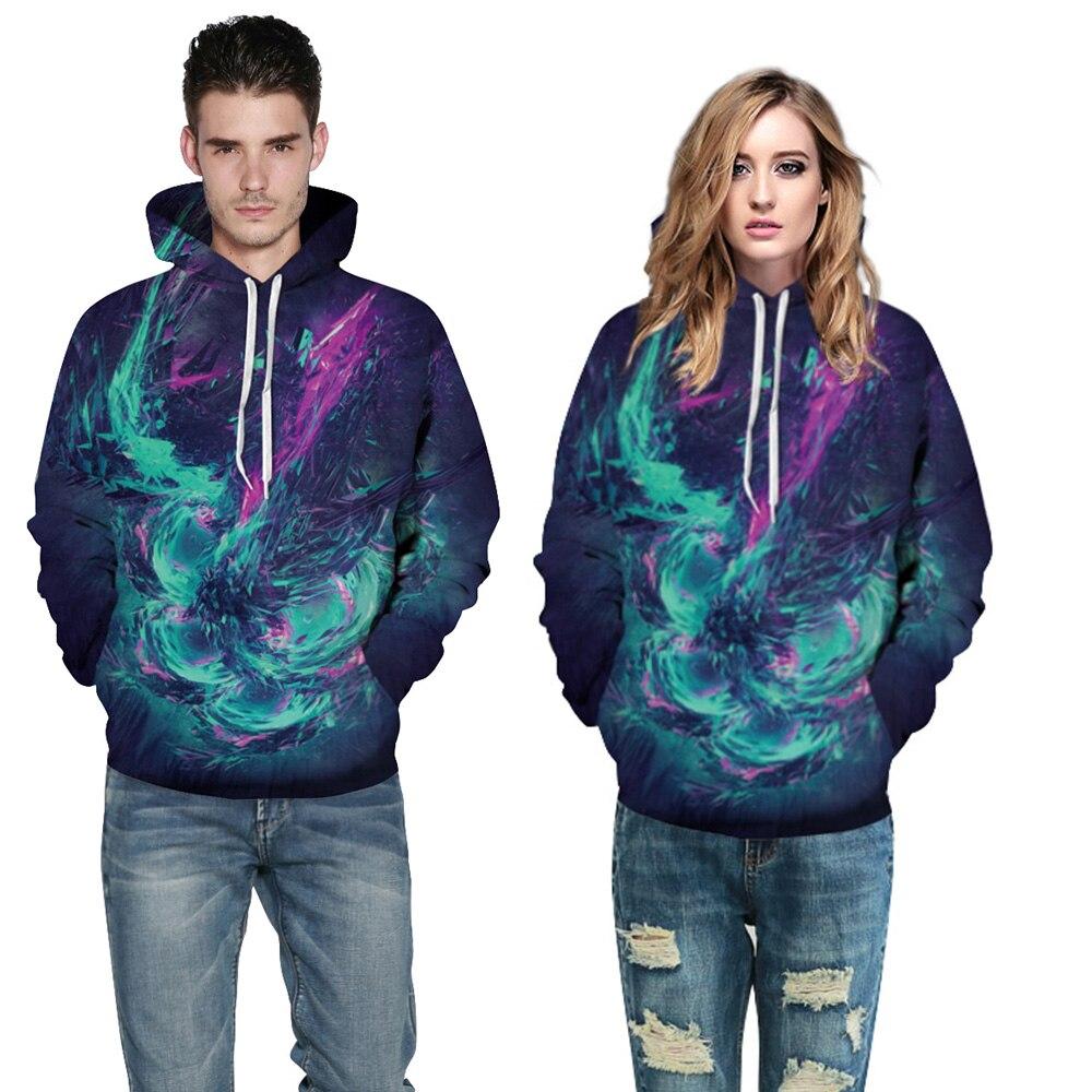 CFYH 2018 New Fashion Autumn Winter Thin Sweatshirts Men/Women Hoodies Print Dreamy Colorful Unisex Hooded Hoodies Pullovers