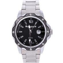 Steel strip black single calendar outdoor sports quartz watch pointer waterproof commercial men's watch