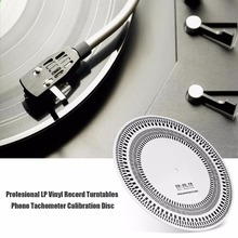 High Quality Profesional LP Vinyl Record Turntables Phono Tachometer Calibration Stroboscope Disc