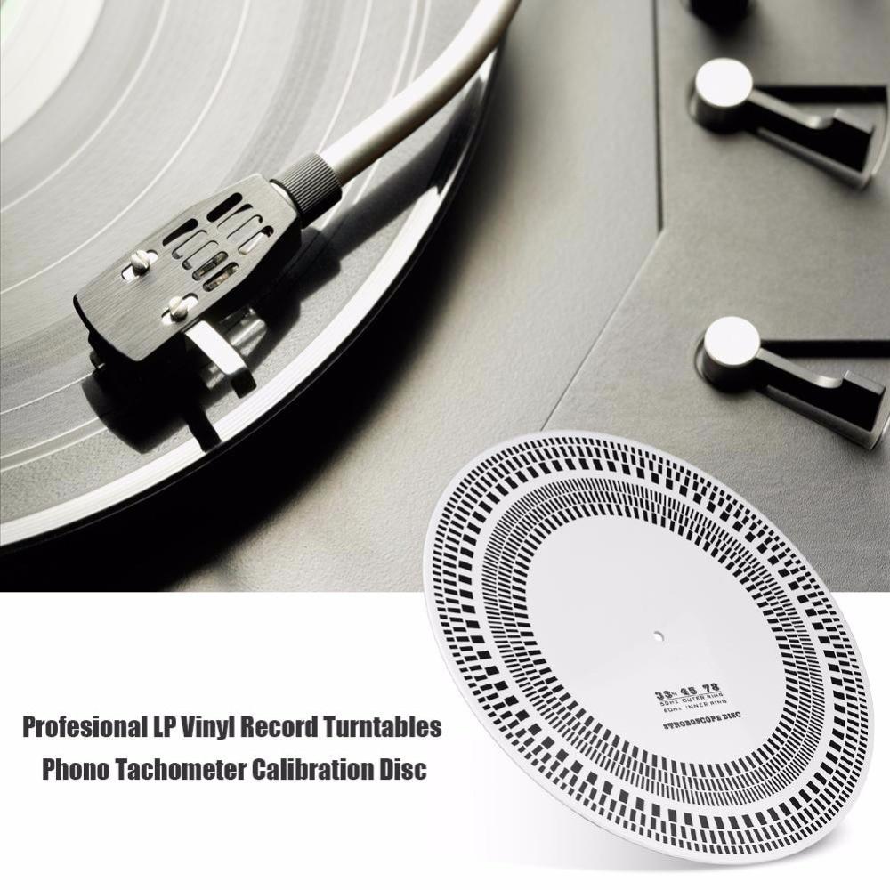 High Quality Profesional LP Vinyl Record Turntables Phono Tachometer Calibration Stroboscope Disc