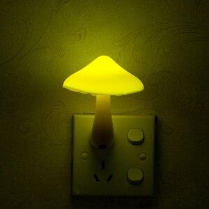Image 5 - AC110 220V duvar priz lambası ab tak çocuk çocuk gece lambası bebek LED Mini mantar işığı kontrol sensörü hediye kreş