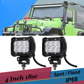 18W Off Road LED Work Light 4 Inch Driving Fog Light Spot Flood Suv Truck 4x4 AWD Tractor Boat LED Bar Car Backup Reverse Light