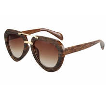 2016 New  Wood Cat Sunglasses Women Vintage Brand Designer Fashion Sunglasses Coating  Eyewear Oculos Ladies Gafas UV400