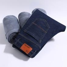 Мужские Зимние флисовые толстые теплые джинсы, новые модные мужские прямые узкие джинсы, 2 модели