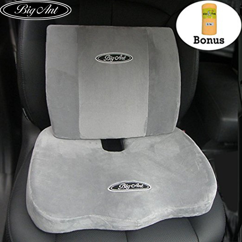 big ant orthopedic memory foam seat cushion and lumbar support pillow for office chair and car