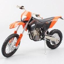 1:12 스케일 ktm 450 exc 09 오토바이 다이 캐스트 모델 자전거 소형 superbike mx 모델 enduro dirt race motocross 아동용 장난감