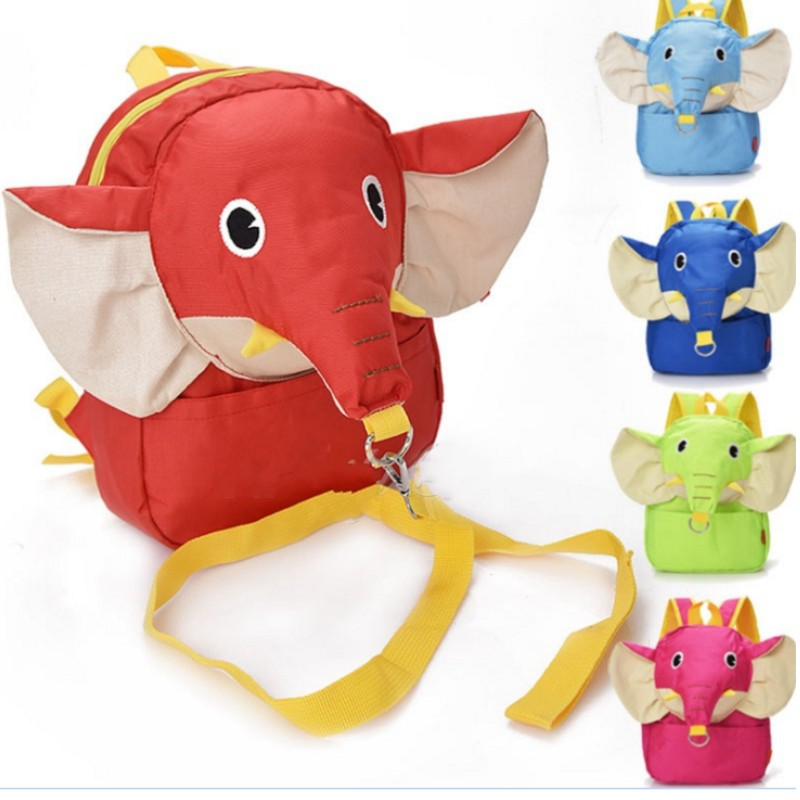 Hot Sale Cartoon Cute elephant Baby Toddler Anti lost Leash Harness Strap Walker Baby Backpack