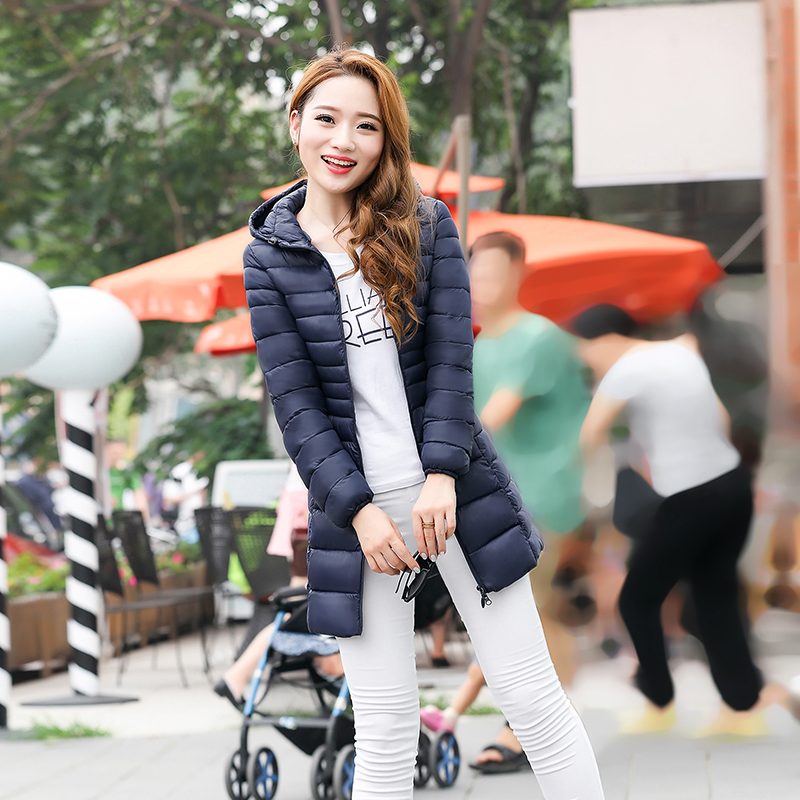 Pamuk Ceket Uzun Kadın 2016 Yeni Moda Kış Ceket Kaliteli Kapüşonlu Pamuk Yastıklı Ceket Kadın Giyim Kış Sıcak Ceket