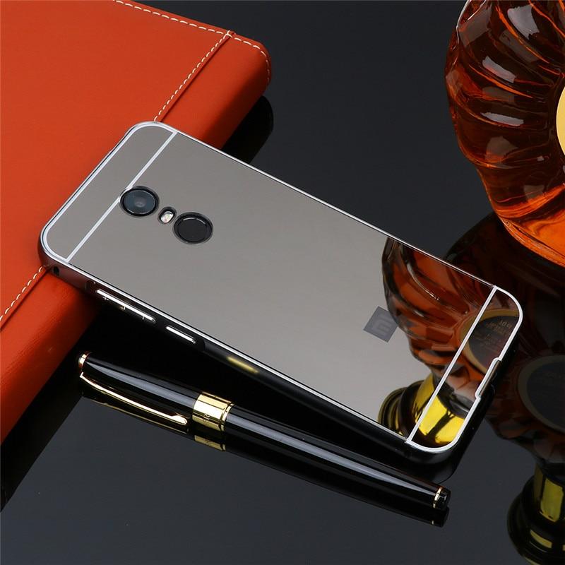 Xiaomi Redmi 5 Plus Case Plating Metal Frame with Mirror Back Cover Hard Phone Case for Xiaomi Redmi 5 Plus 5Plus Hard Cover