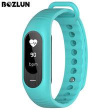 Bozlun B15P Heart Rate Monitor de Pressão Arterial de Pulso Para Mulheres dos homens Relógio LED de Alarme do Relógio Relógio Amantes de Fitness Rastreador