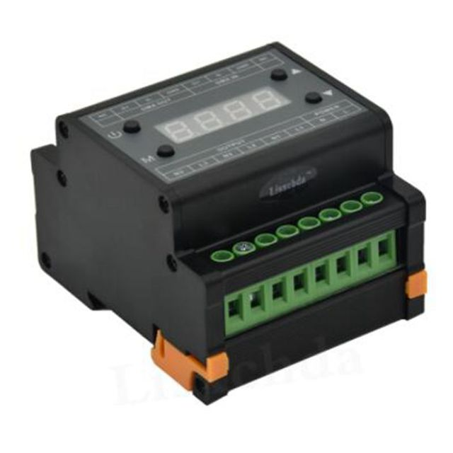 DMX302 LED DMX Triac Dimmer Kecerahan Controller AC90V-240V Output 3 Saluran 1A/CH Tegangan Tinggi LED Dimmer untuk LED panel Cahaya