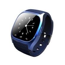 Nueva llegada m26 smart watch v4.2 reproductor de música bluetooth podómetro mensaje de llamada perdida anti del recordatorio reloj de pulsera para iphone android