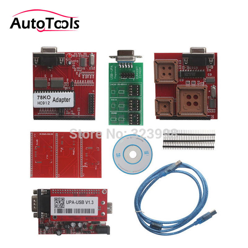 Top selling UPA USB Serial Programmer Full Package V1.3 Popular Eeprom Universal Chip Programmer auto ECU Tool In stock new upa usb 2014 v1 3 0 14 with full adapters upa usb device programmer v1 3 auto ecu tool in stock